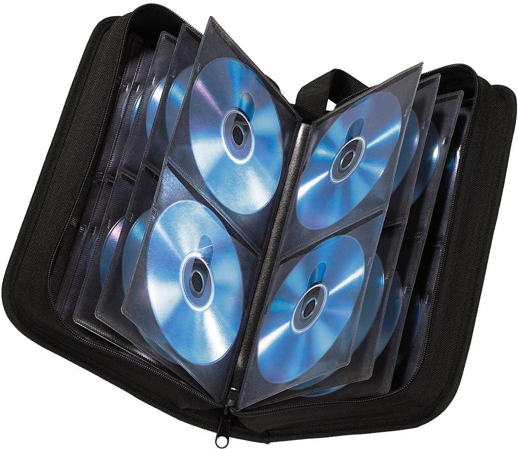 Hama - Estuche porta CD para 120 CD/DVD/Blu-rays, portafolios para guardar CD, negro: Amazon.es: Informática