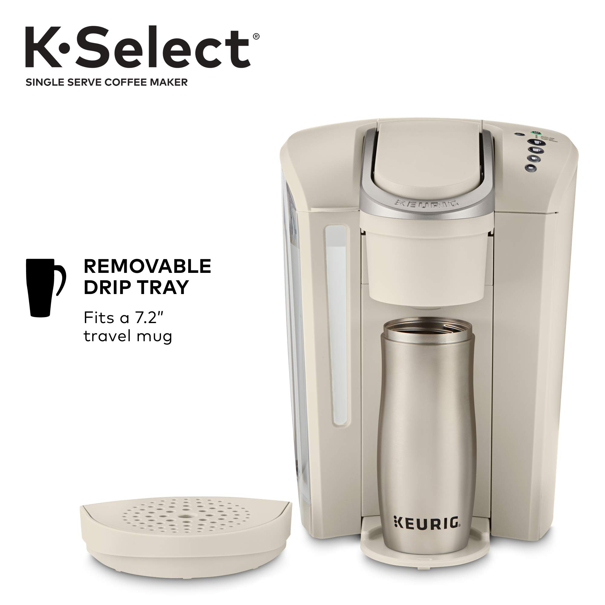Keurig K-Select Single-Serve K-Cup Pod Coffee Maker, Sandstone by Keurig (Image #6)