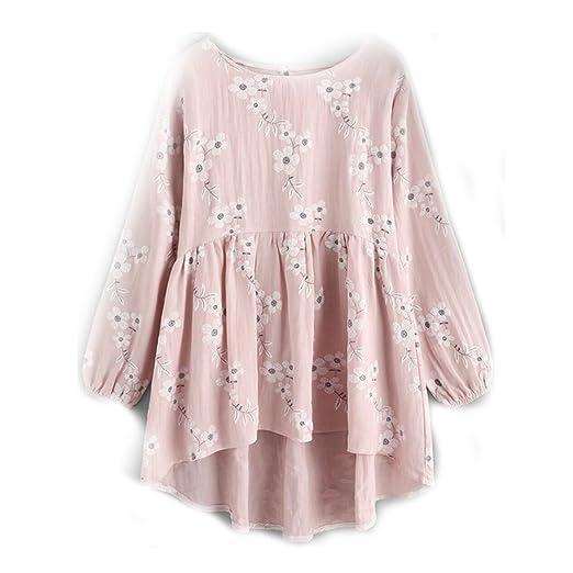 Amazon.com: Yakke Women Peplum Tops and Blouses Spring 2018 Fashion Long Sleeve Blouse Ruffle O Neck Irregular Casual Loose: Clothing