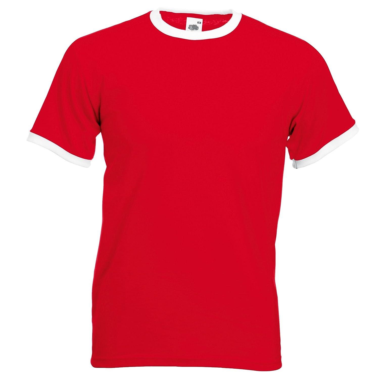 Fruit Of The Loom Mens Ringer Short Sleeve T-Shirt | Amazon.com
