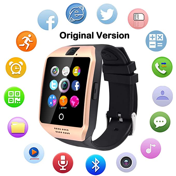 Upgraded Large Screen Smart Watch with Camera, Waterproof Touch Screen Smartwatch with SIM Card Slot, Unlocked Watch Cell Phone for Android/iOS Phones ...