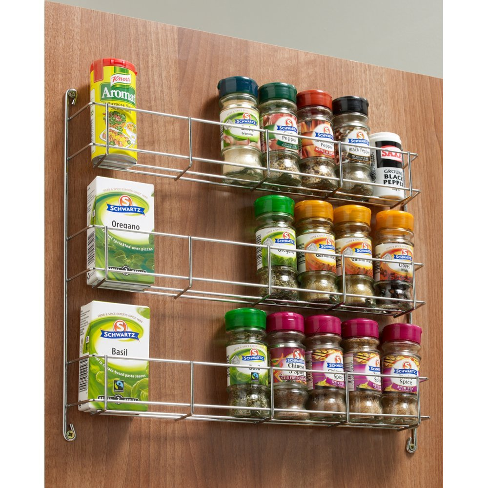 Three Tier Spice Rack 288mm To Suit 400mm Door Amazon Diy