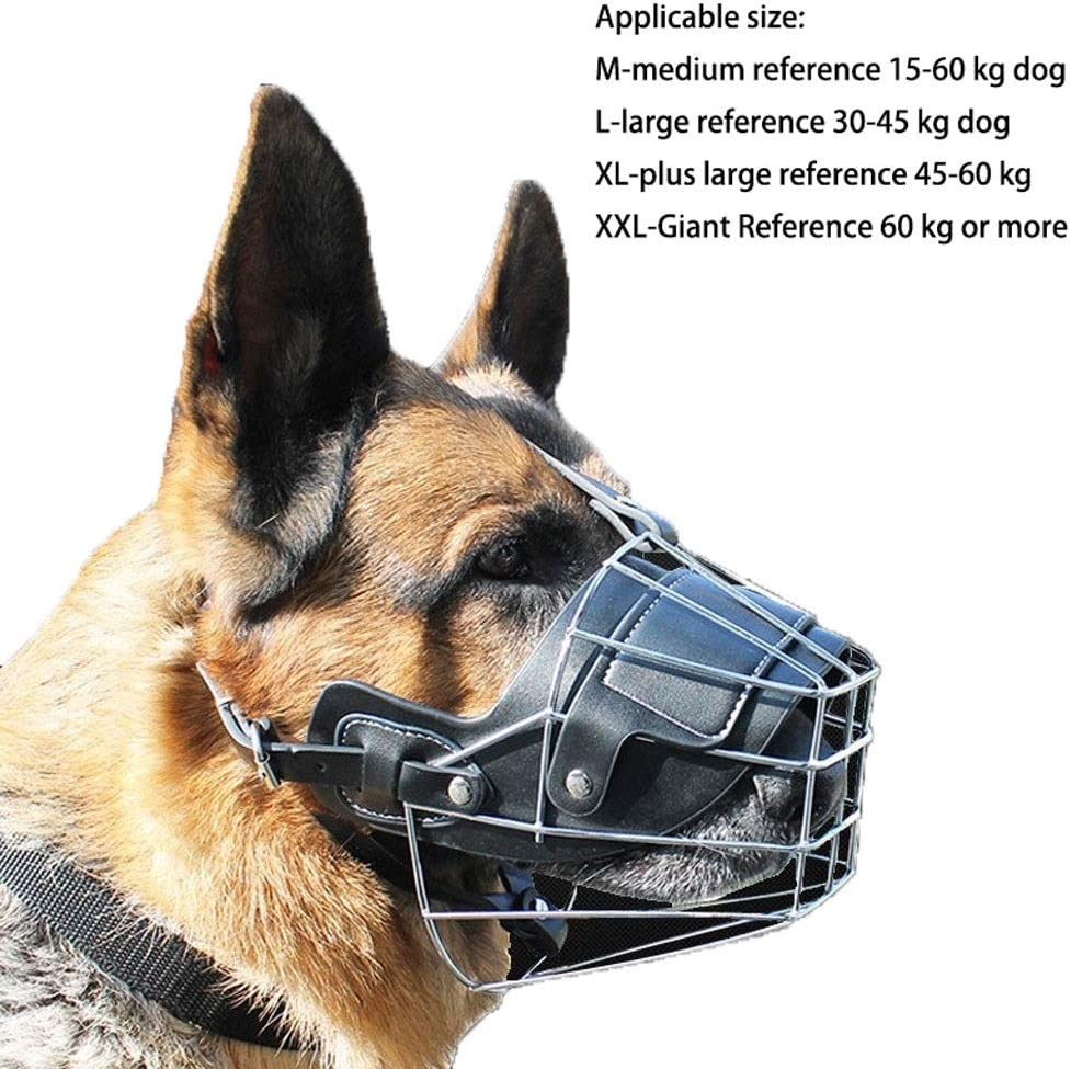 VIVIANE Tapa De Boca De Perro De Hierro Perro Lobo Doberman Golden Alaska Anti-mordida Boca De Perro Grande Boca Jaula Bozales para Perros Mascarilla Anti-mordedura M/áscara Bucal
