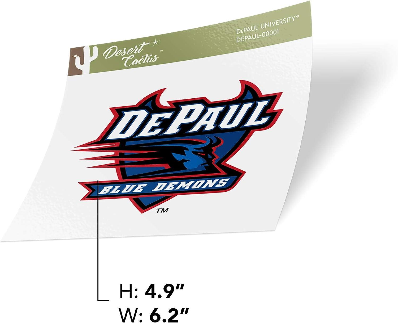 DePaul University DPU Blue Demons NCAA Vinyl Decal Laptop Water Bottle Car Scrapbook Sticker - 00001