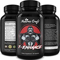 Best Natural Testosterone Booster for Men - Male Enhancement Supplement Estrogen Blocker Energy Pills for Enlargement Muscle Builder Fat Burner and Mood Boost - Male Enhancing Energy Supplement
