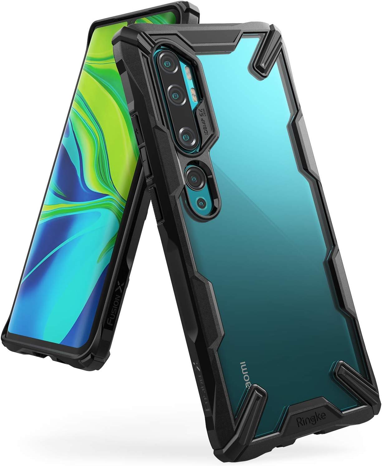 Ringke Fusion-X Diseñado para Funda Xiaomi Mi Note 10, Funda para Mi Note 10 Pro Protección Resistente Impactos TPU + PC Carcasa Mi Note 10 (6.47