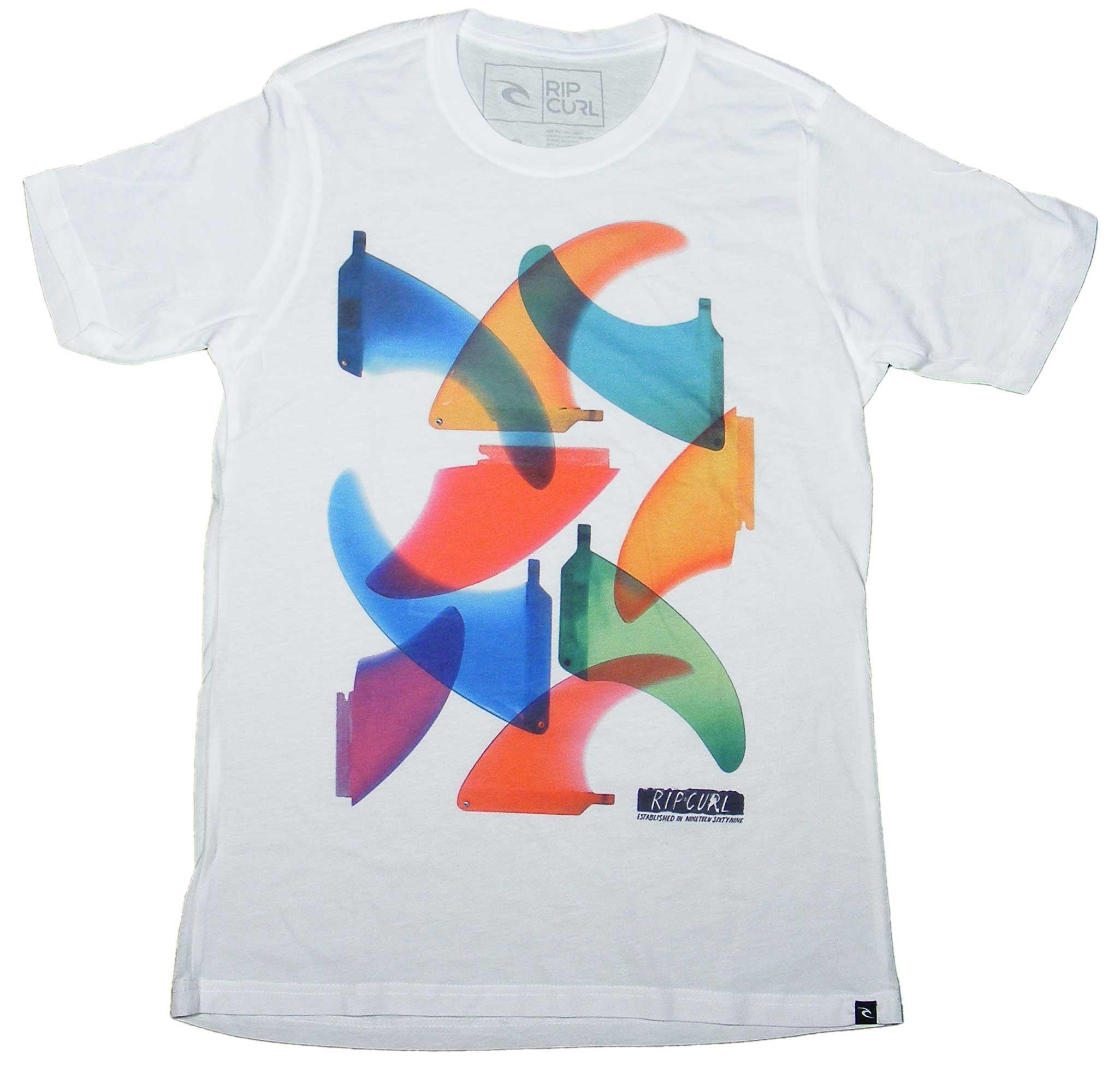 Rip Curl Fiber Glass Sublimination T-Shirt - White - XL