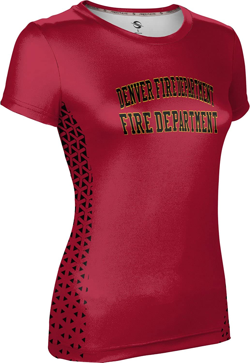 ProSphere Women's Denver Fire Department Gov-Fire-Police Geometric Tech Tee