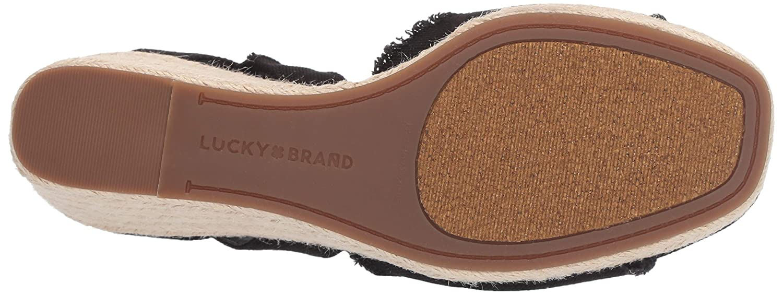 7696080a801 Lucky Brand Women's Mindra Espadrille Wedge Sandal