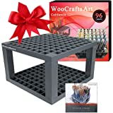 96 Holes Pencil Holder,Brush Pen Desk Stand,No Case! Perfect Organizer Holder for Gel Pens,Paint Brushes,Colored Pencils,Markers & More by WooCraftsart