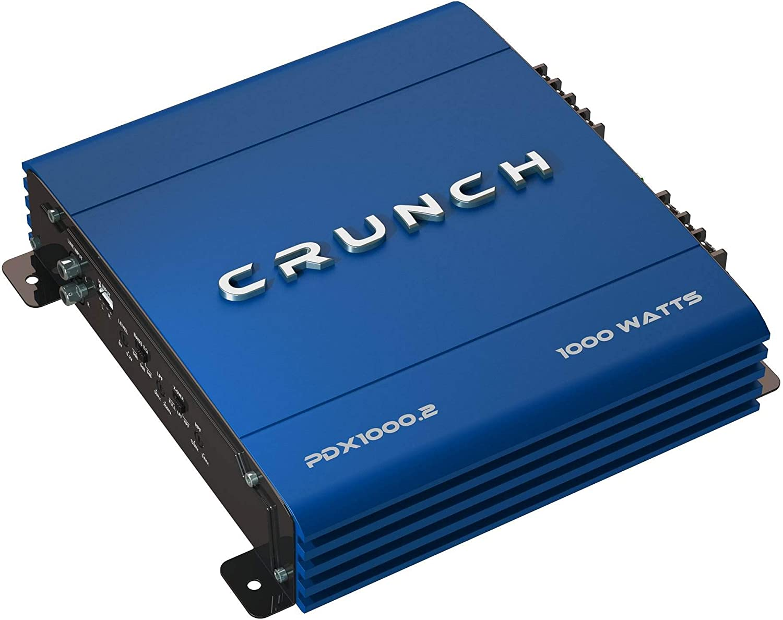 Crunch PX1000.2 1000W POWERX Series 2-Channel Class AB Car Audio Amplifier w//Amp Kit