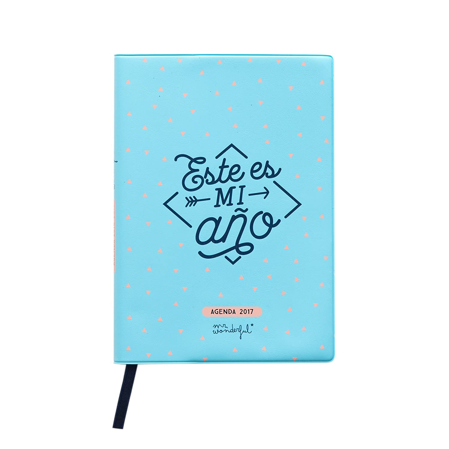 Mr. Wonderful - Agenda 2017 (12.5 x 17.5 cm), color azul: Amazon ...
