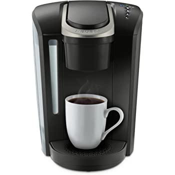keurig k select single serve k cup pod coffee maker with strength control and hot water on demand matte black