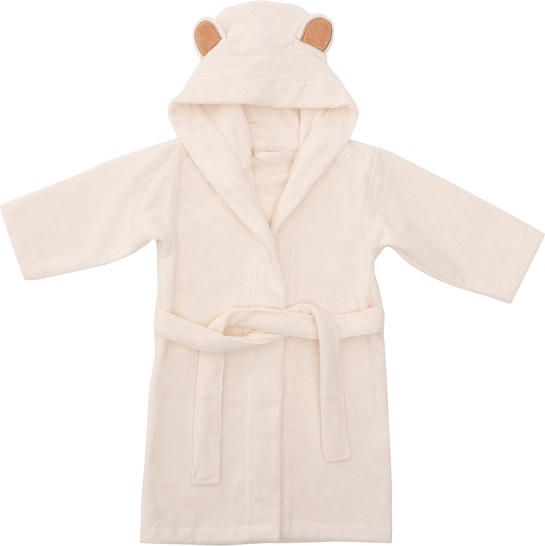 Bamu Baby Town Boys Girls Infants Unisex Soft Plush Fleece Hooded Bath Robe Dressing Gown Sizes 6-24 Months 2-6 Years