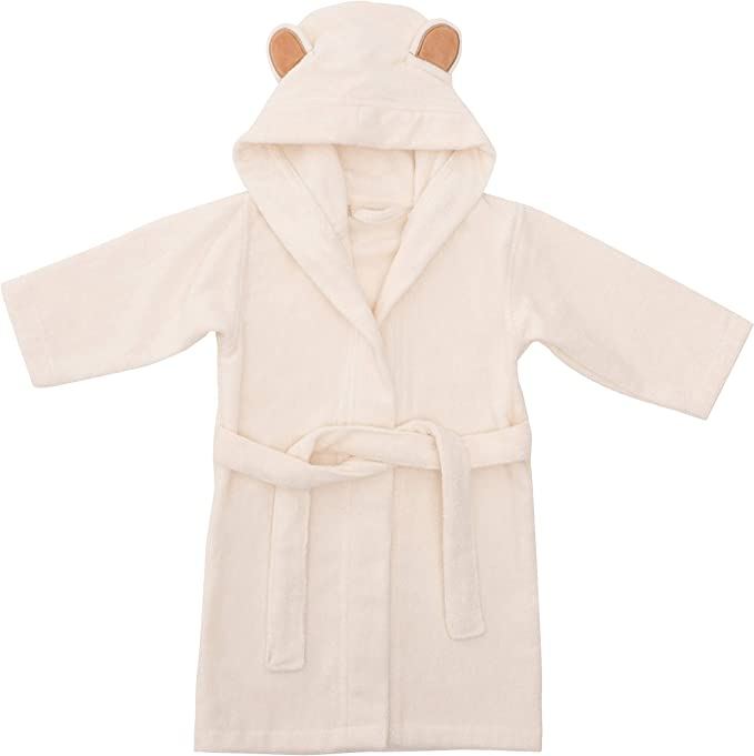 EFY White Baby Hooded Bath Robe or White Hooded Towel with a POKEMON Logo and Name of your choice. Baby Robe 0-9 months