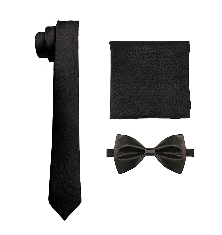 Royal Kurta Mens Italian Tie Combo With Bow Complimentary Pocket Square