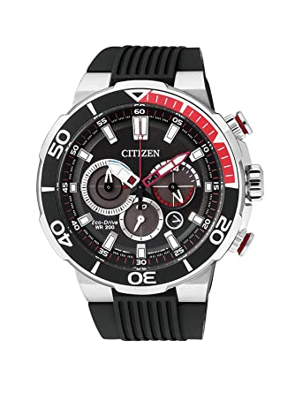 Mens Citizen Eco-Drive Chronograph Divers Watch CA4250-03E