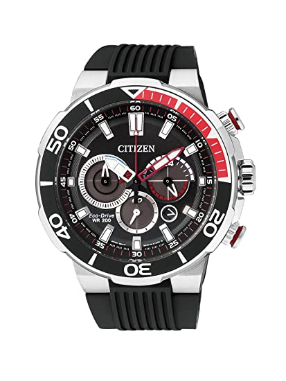 Amazon.com: Mens Citizen Eco-Drive Chronograph Divers Watch CA4250-03E: Citizen: Watches