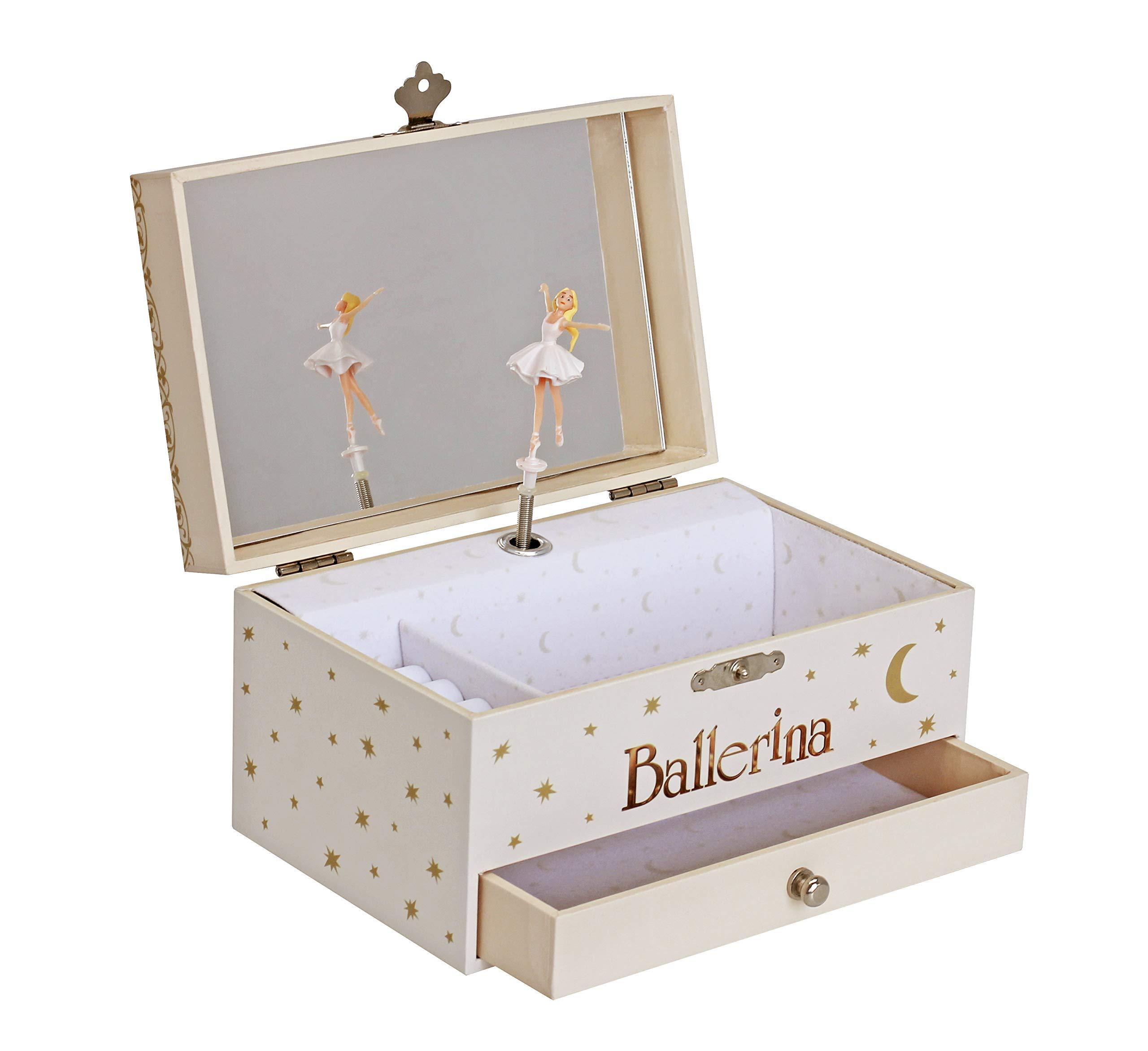 TROUSSELIER - Ballerina - Ballerina Movie - Photoluminescent Musical Jewelry Box - Glow in the Dark