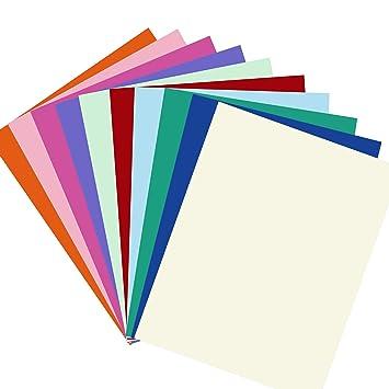Tarjetas de Papel A4 100 hojas, en 10 colores diferentes ...