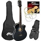 Tiger Cutaway Acoustic Guitar Kit - Black