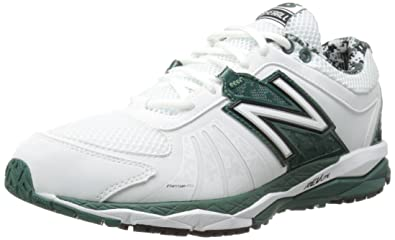 New Balance Men\u0027s T1000 Turf Low Baseball Shoe,White/Green,8 ...
