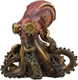 "Ebros Steampunk Giant Kraken Octopus Marauder Statue 5.5"" Tall Deep Sea Military Cephalopod Unit Figurine Decor for Sci…"