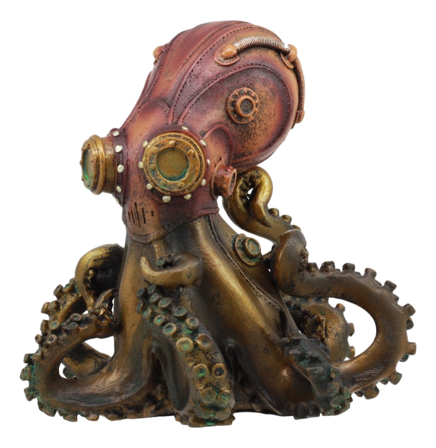 "Ebros Steampunk Giant Kraken Octopus Marauder Statue 5.5""Tall Deep Sea Military Cephalopod Unit Figurine Decor For Sci Fi Fantasy Lovers"