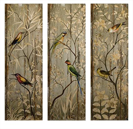 Charming Imax Calima Bird Wall Decor (Set Of 3)