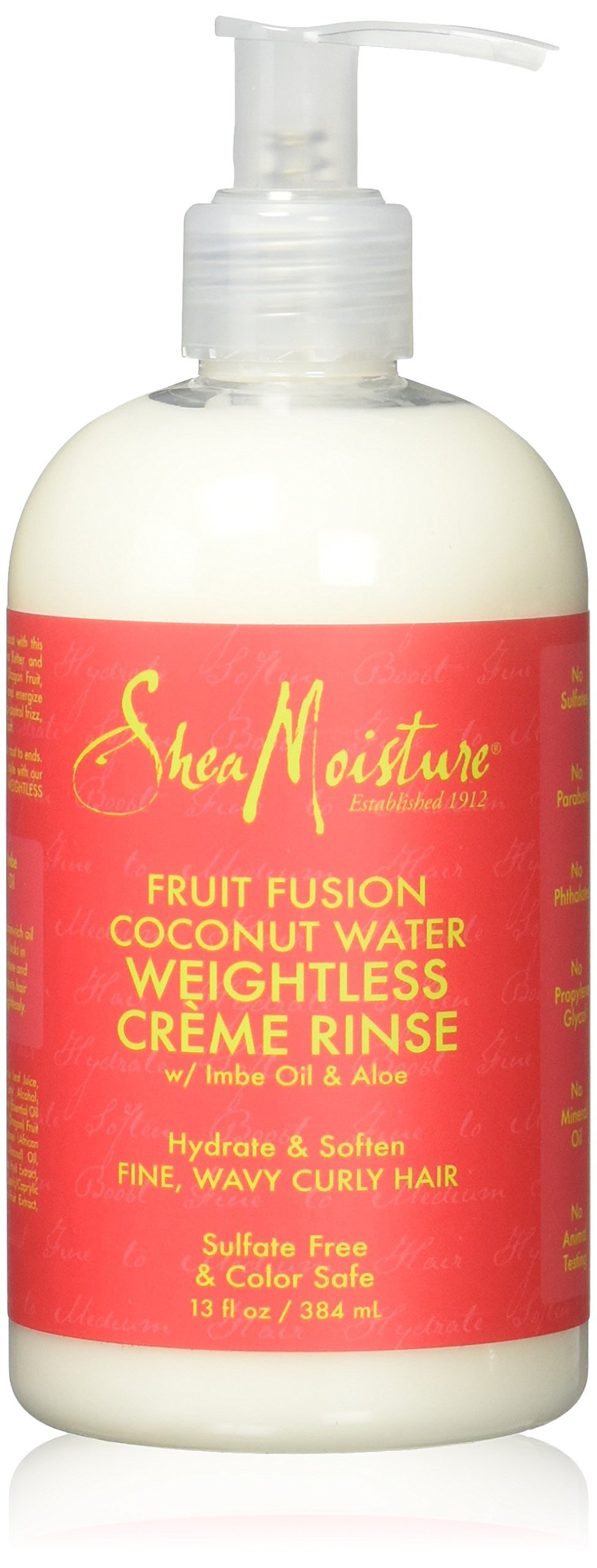 Shea Moisture Fruit Fusion Coconut Water Weightless Creme Rinse 1, 13 Ounce