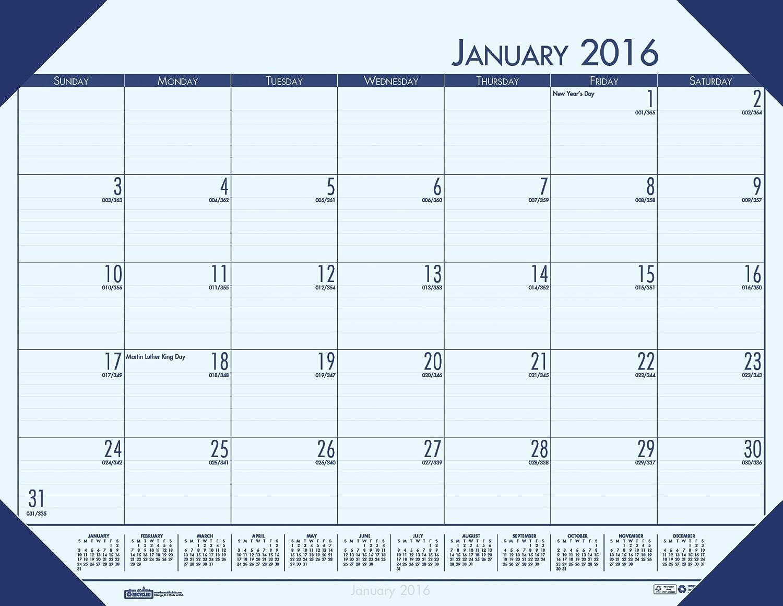 (Blue) - House of Doolittle 2016 Monthly Desk Pad Calendar, EcoTones, Blue Paper, 60cm x 43cm (HOD12440-16)  ブルー B00Z9G0LN6