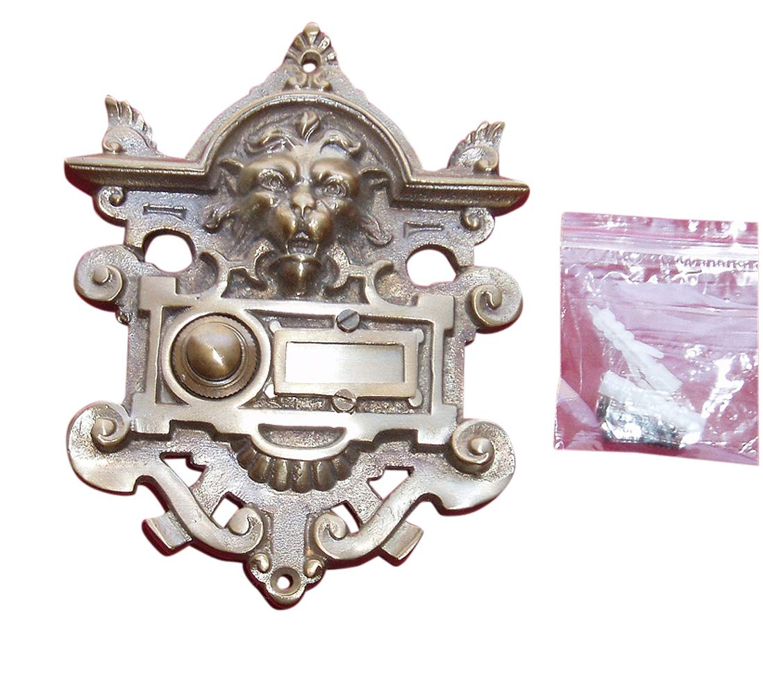 Messing Antik Style Haustüre Klingel 1 Brass Door Bell Tür Türklingel K99A