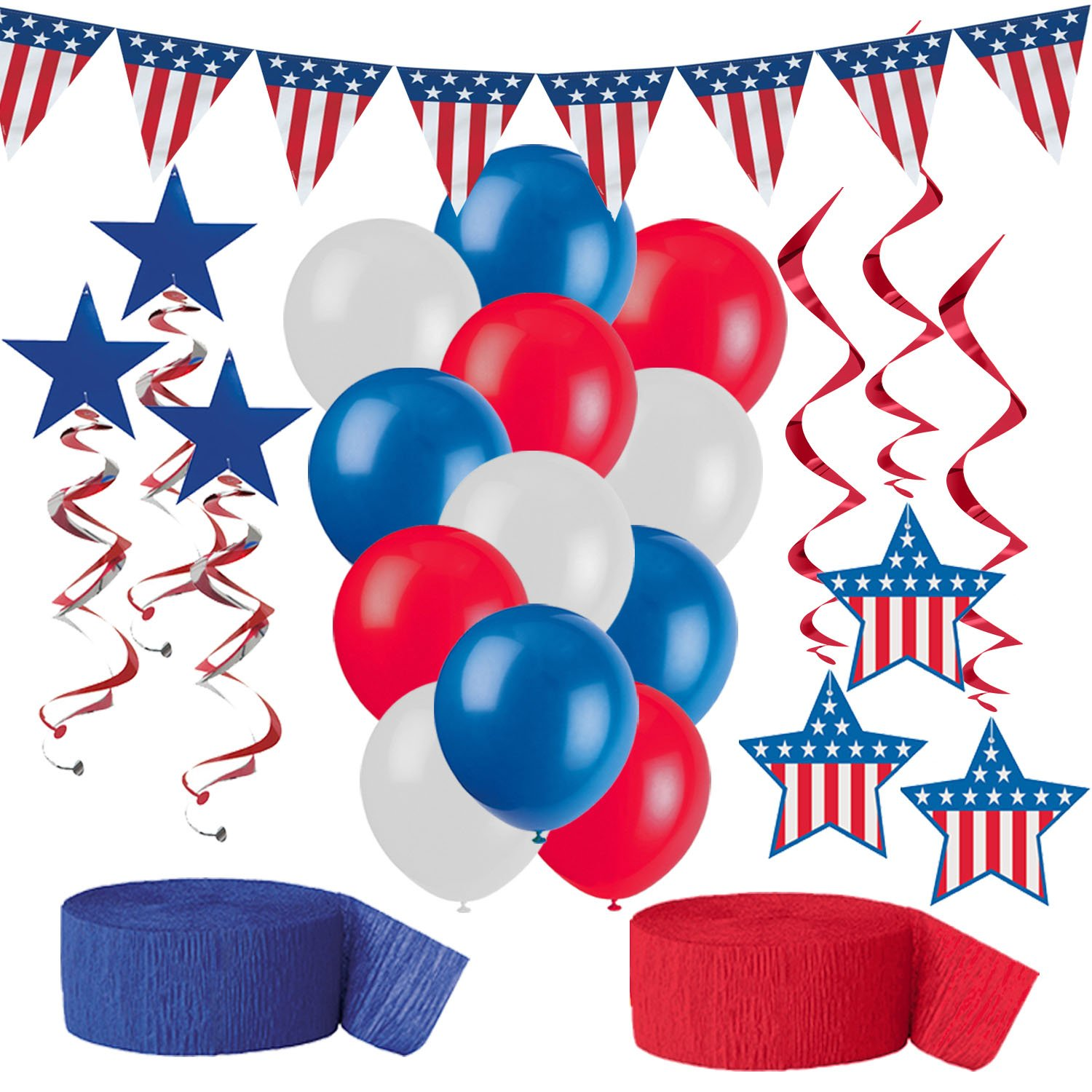 American Flag Party Decorations Red White And Blue