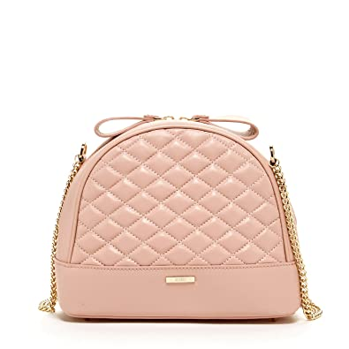 SUSU Pink Leather Crossbody Bags For