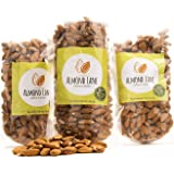 Almond Lane | Whole Raw Almonds | California Grown | All Natural & Non-GMO | Steam Pasteurized (3 Bags)