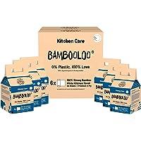 Bambooloo Kitchen Roll Grab Bags 100% bamboo pulp food-safe 4 x 60 sheet rolls per bag, 6 bags per carton. (24 rolls)