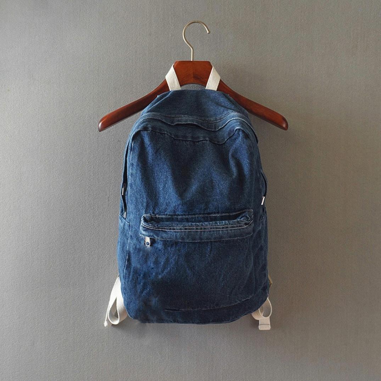 Gillberry Unisex Denim Travel Backpack School Bag Rucksack Casual Retro Bag WY5462