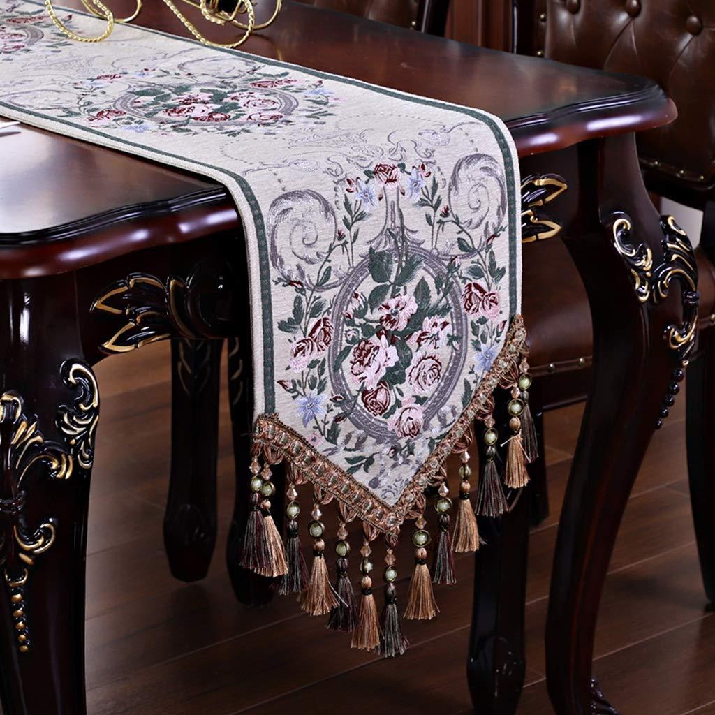 B 33240cm nouveau American Table courirner Salon Table Basse TV Cabinet Européen De Luxe Table Tissu Lit Drapeau Jacquard Napperon Moderne Minimaliste (Couleur   A, taille   33  180cm)