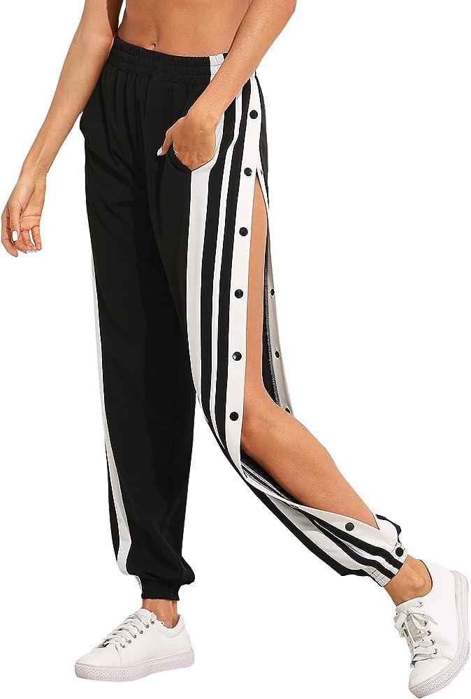 SOLY HUX Mujer Pantalones de chándal elástico con Bolsillos ...