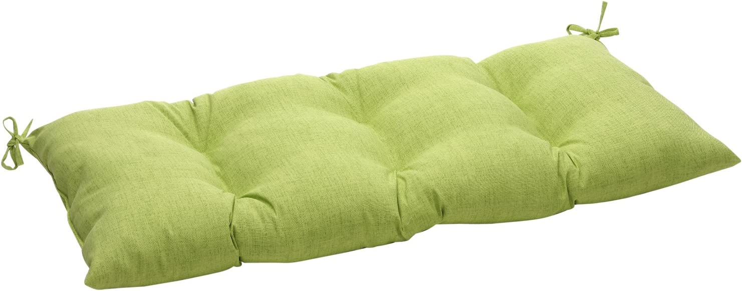 Pillow Perfect Indoor Outdoor Baja Lime Green Swing Bench Cushion