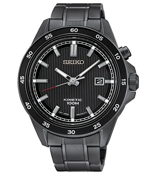 Seiko Kinetic - Reloj color negro