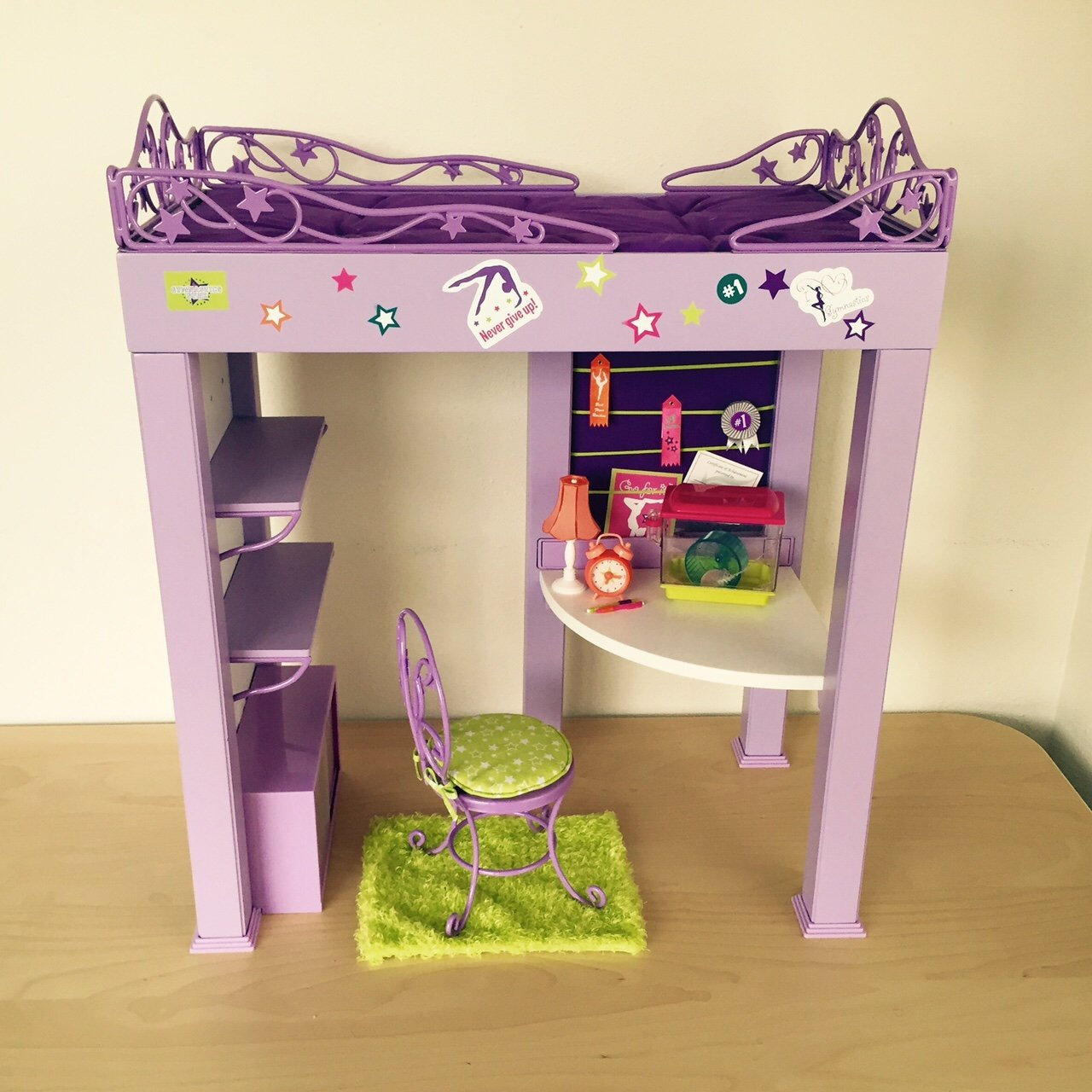 American Girl Doll of the Year Retired McKenna Loft Bed Go For It Poster ONLY