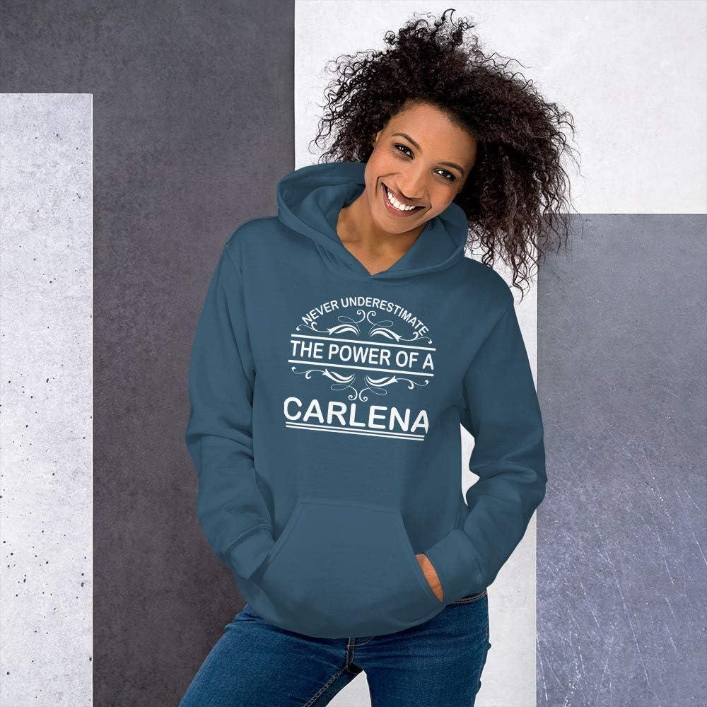 Never Underestimate The Power of CARLENA Hoodie Black