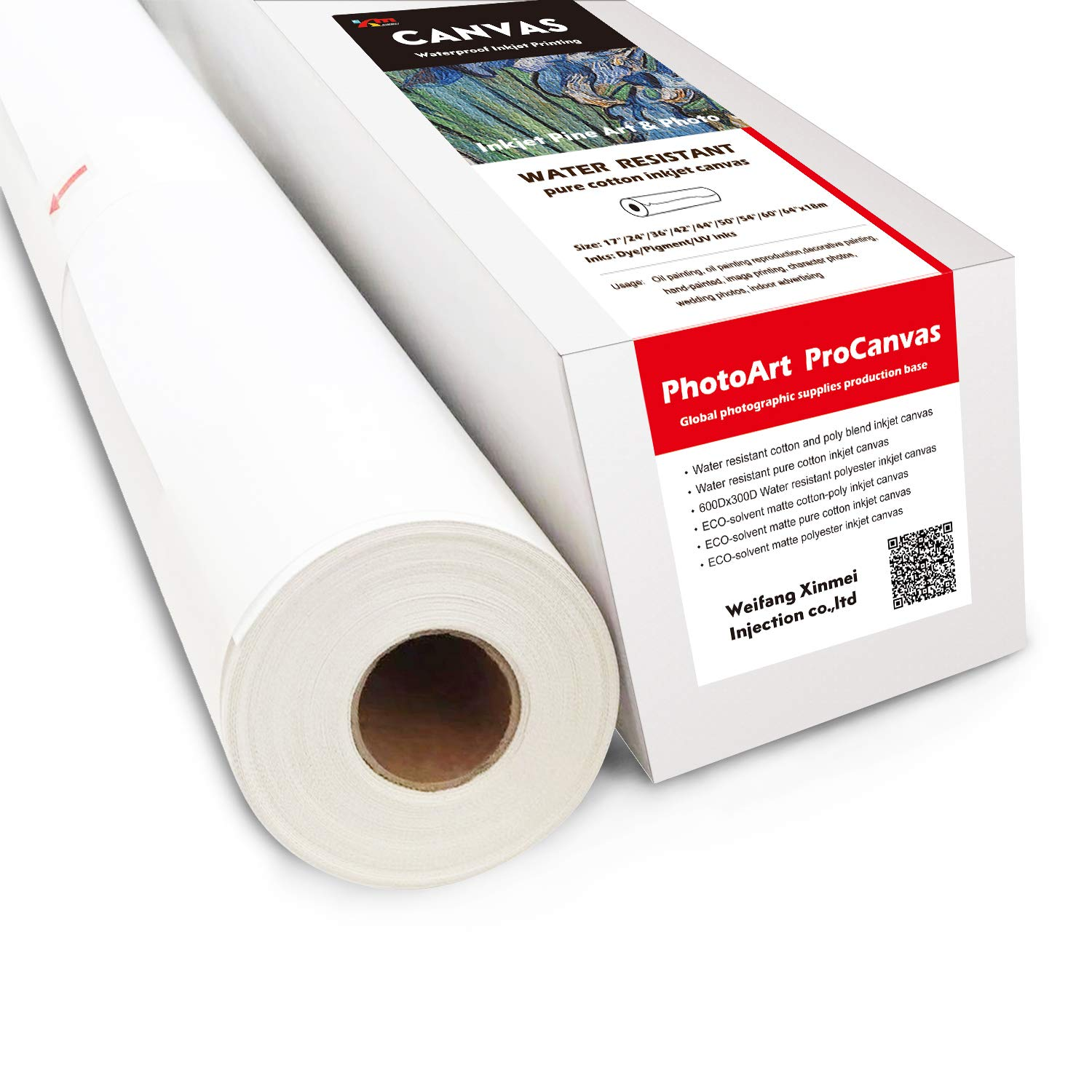 Water Resistant Pure Cotton Inkjet Canvas (60'' x 60'(Pack of 2)) by Sheepcamel