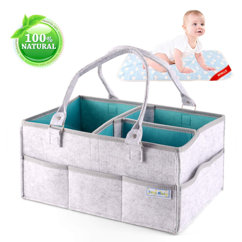 Baby Diaper Caddy Organizer - Felt Diaper Caddy Nursery Tote Bag ...
