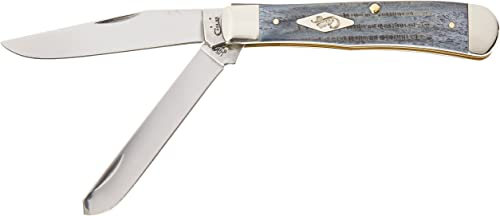 Case 10665 Second Cut Gray Bone 6254 SS Trapper Knife
