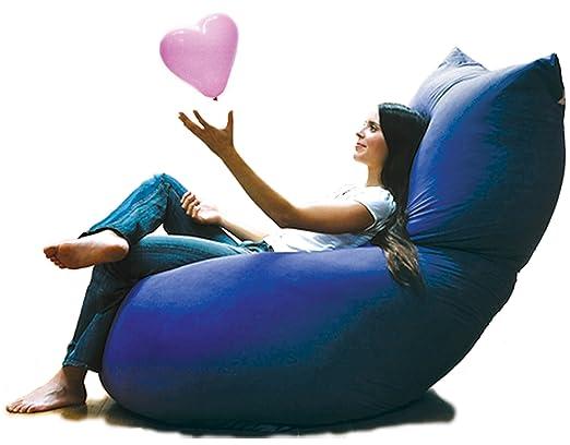 Milega Puff - Cojín Gigante en Forma de Concha Azul 180 x 90 ...