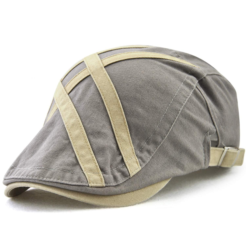 JAMONT Gorra plana ajustable para hombres, sombrero de verano ...