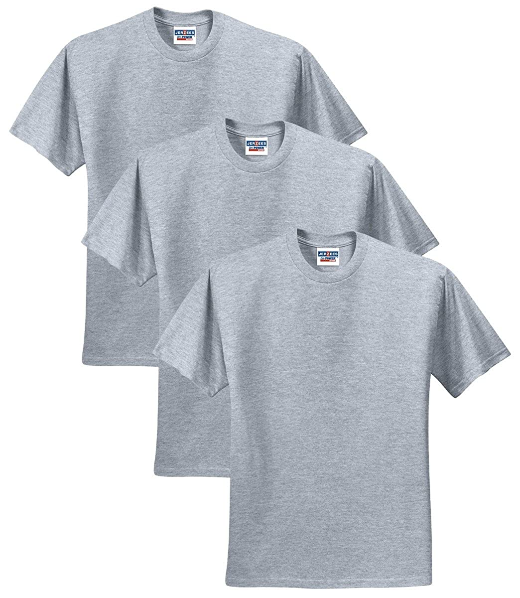 Jerzees Mens Adult Short Sleeve T Shirt 3 Pack Amazon