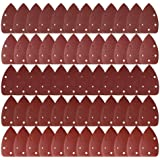 LEOBRO サンドペーパー 紙やすり ダブルアクション サンディングディスク サンダー用50枚セット#40#60#120#180#240 5穴あき 三角形 DIY 木工用 研磨 やすり